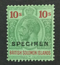 MOMEN: SOLOMON ISLANDS SG #52s 1925 SPECIMEN MINT OG H LOT #191525-659