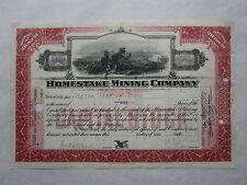 Homestake Mining Company   An 1877 California Corporation