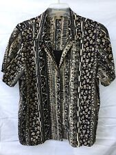 NOTATIONS WOMAN  BLOUSE W ATTACHED BLACK TANK BLACK TAN CREAM SHORT SLEEVE SZ 1X