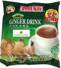 INSTANT HONEY GINGER TEA/DRINK - GOLD KILI - 40 SACHETS - 2 x 360g