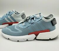Adidas POD-S3.1 Running Shoes Blue Grey White Red EE7033 Women's Size 10