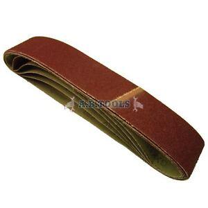 5 Pack Sanding Belts 80 Grit 686 x50mm Tool Sander Grinder Woodwork File SIL65