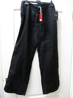 PURE COLLECTION BNWT Black Linen Trousers Size 12 RRP £89