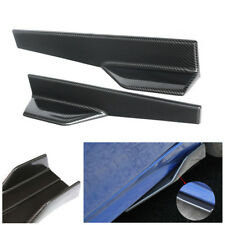 Pair PP Carbon Fiber Side Skirt Spoiler Rocker Splitter Anti-scratch Wing Bumper