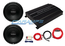 "New Rockford 12"" Performance Series Subwoofer W/ Power Amp & Wire Install Kit"
