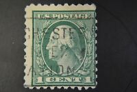RARE 1917 US, 1c stamp, Used, George Washington