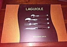 LAGUIOLE FRANCE 24 PIECES SET 12 SPOON 6 FORK 6 KNIFE IN BOX NEW ORIGINAL FRENCH