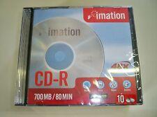 Lotto di 90 CD-R Conf.da 10 pz x 9  Imation custodia rigida CD ROM nuovi  48x