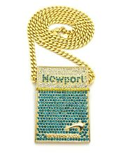 """New Iced Out Hip Hop Piece With 30"""" Box Cuban Chain."""