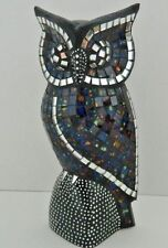 FAIRTRADE ORNAMENTAL MOSAIC OWL FIGURE DECORATION