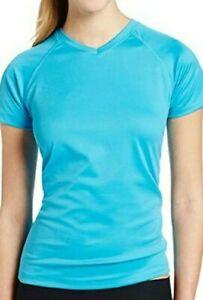Kanu Surf Women's  Short Sleeved Active Swim Shirt Rashguard & Workout Top UPF 5
