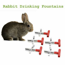 8 Sets Automatic Nipple Water Feeder Waterer Drinker For Rodents Bunny Rabbit