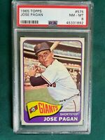 1965 TOPPS JOSE PAGAN SAN FRANCISCO GIANTS # 575 PSA 8  HIGH #
