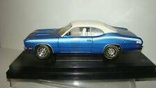 1/18 American Muscle 1971 Plymouth Duster 340 blue/white w/box