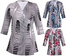 Wrap Machine Washable Floral Tops & Blouses for Women