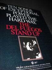 DEL FUEGOS 10 Songs Of Exceptional Power... 1987 PROMO POSTER AD