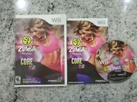 Zumba Fitness Core 🔥TESTED 🔥Nintendo Wii Complete cib *Next Day SHIP