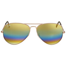Ray Ban Aviator Gold Rainbow Flash Mens Sunglasses RB3025 9020C4 62
