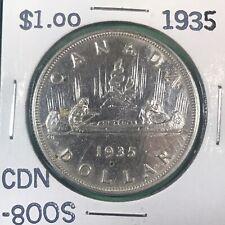 1935 Canadian 800 Silver Dollar Estate Sale