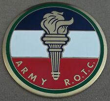 "US Army ROTC Self Adhesive Metal Emblem Enamel Finish 3 1/8"""