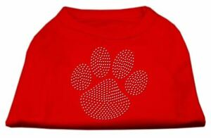 Clear Rhinestone Paw Dog Cat Pet Puppy Shirt