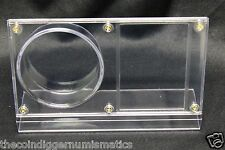 NHL HOCKEY PUCK & CARD HOLDER DISPLAY CRYSTAL CLEAR PLASTIC NEW BCW AUTOGRAPH