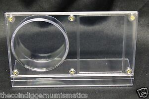 NHL Hockey Puck & Card Holder Display Crystal Clear Plastic BCW Autograph Case