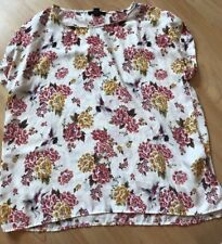Forever 21 Teen Girls Blouse size L White Floral