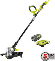 Ryobi Cordless String Trimmer Edger Weed Eater Pivoting Head Battery Charger 40V