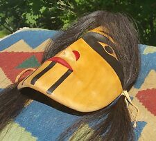 "14"" TULALIP kelly moses vtg mask totem pole art alder wood carving pacific coast"