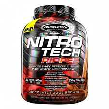 MUSCLETECH NITROTECH RIPPED 4LBS //  NITRO TECH THERMOGENIC PROTEIN WPI MUSCLE #