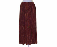 Coldwater Creek Dark Red Orange Artsy Crinkled Peasant Skirt NWT M