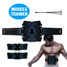Usb Rechargeable Abs Muscle Stimulator Abdominal Toning Belt Trainer Fitness Set