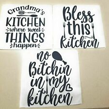 Dish Cloth Kitchen Absorbent Dusting Cleaning Rags White 11x11 Inch 3 Piece Set
