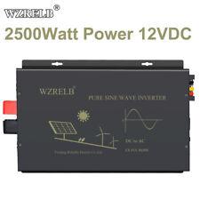 2500W Pure Sine Wave Inverter 12V to 120V Car Power Generator Truck Battery Camp