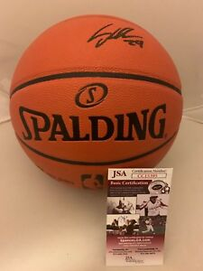 Lauri Markkanen Chicago Bulls signed F/S Full Size NBA Basketball Ball JSA