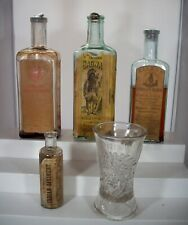 Lot of Five (5) Labeled Native American or Indian Quack Medicine Bottles