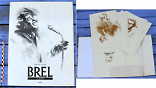 Jacques Brel, 24 portraits, Gabrielle Vincent, grand format, Duculot 1989,