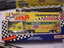 WHITE HOUSE APPLE JUICE RACING HAULER WHITE ROSE MATCHBOX   NEVER OPENED LQQK