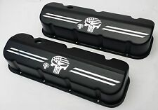 Big Block Chevy PUNISHER Die Cast Aluminum Black Powder Coat Valve Covers