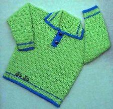 Girls/boys Crochet Sweater patrón No. 77 diseñado por Kay Jones