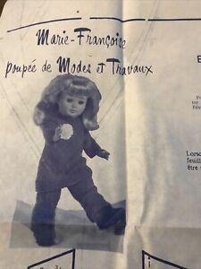 Patron Modes et Travaux Fevrier 78 Poupees  Marie Françoise  Et  Michel