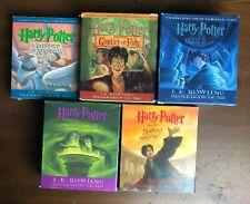 Lot 5 HARRY POTTER AUDIOBOOK CDs Set 3-7 JK Rowling Excellent