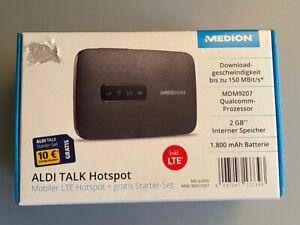 ALDI Talk Hotspot Mobiler LTE Router MD62095 MD 62095 Medion mit 10€ Starter-Set