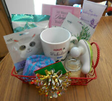 Gift basket women spa candle, book, socks, masks, mug, lotion + more NEW