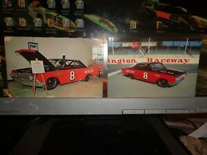 Two Different 1964 Joe Weatherly No. 8 Mercury NASCAR Postcards