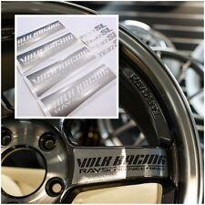 JDM Stickers Wheel Racing Decal 17-20 inch Rim Rays Volk TE37 SL Metallic Silver
