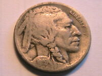 1919-D Buffalo Nickel Ch Very Good Toned Original Indian Head 5 Cent WWI Coin