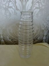 Modern Art Glass Rib Stripe Clear Glass Vase 31cm Tall