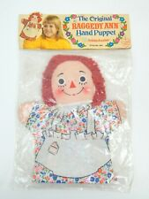 The Original Raggedy Ann Hand Puppet Knickerbocker Toys Sealed Set 1973